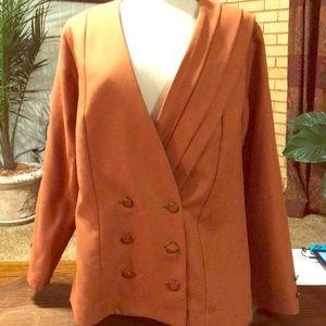 Vintage rust/orange blazer